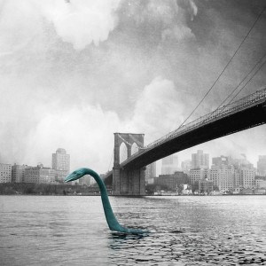 Michael Murray's Monster in New York Print showing Nessie on her travels!