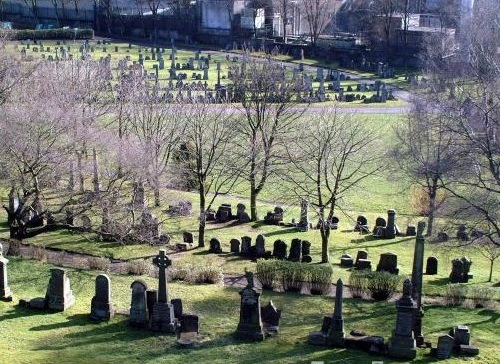 """Famous for the """"vampire hunters"""" The Southern Necropolis, in Glasgow is an enormous cemetery, with a quarter million residents.  It is said to be the lair of a 7ft child-eating vampire known as the """"Gorbals Vampire"""" with metal teeth.  In 1954, rumours that the vampire had killed two local children, hundreds of children aged between four and fourteen came to the cemetery armed with sticks and knives, looking to kill the beast that had apparently eaten two local boys.  The entrance to the cemetery is at Caledonia Road, via the grand gatehouse which was built in 1848 to designs by the Glasgow architect Charles Wilson."""